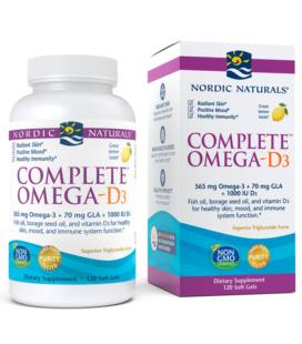 Nordic Naturals Complete Omega-D3 z witaminą D 120 Sgels