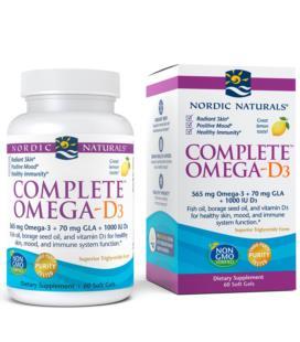 Nordic Naturals Complete Omega-D3 z witaminą D 60 Sgels