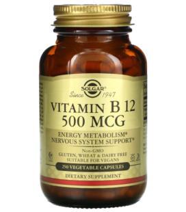 Solgar Witamina B12 500mcg 250vcaps