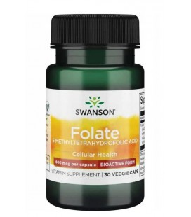Swanson Folate (5-methyletrahydrofolic Acid) 400mcg 30 veg kaps