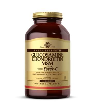 Solgar Glukozamina Chondroityna MSM z Ester-C 180tab