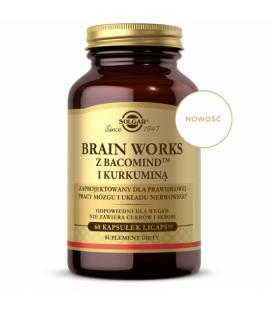 Solgar Brain Works 60kapsułek z BacomindTM i Kurkuminą