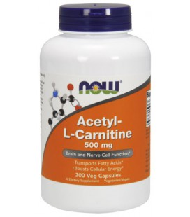 NOW FOODS ACETYL L-CARNITINE 500mg 200 VCAPS