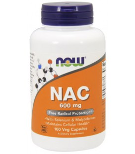 NOW FOODS NAC-ACETYL CYSTEINE 600mg 100 VCAPS