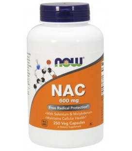 NOW FOODS NAC-ACETYL CYSTEINE 600mg 250 VCAPS