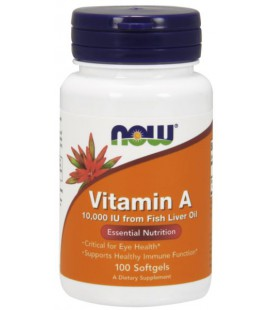 NOW FOODS VITAMIN A 10000 IU 100 SGELS