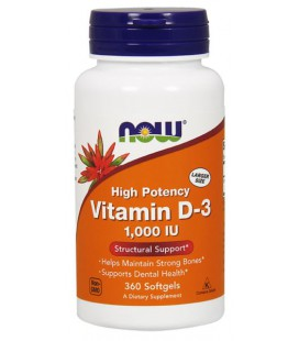 NOW FOODS VIT D-3 1000 IU 360 SGELS
