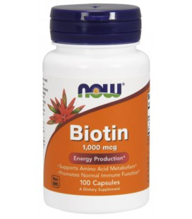 NOW FOODS BIOTIN 1000mcg 100 CAPS
