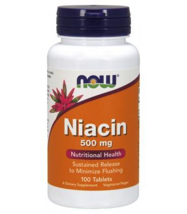 NOW NIACIN 500mg TR 100 TABS