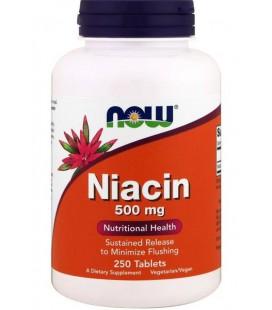 NOW FOODS NIACIN 500mg TR 250 TABS