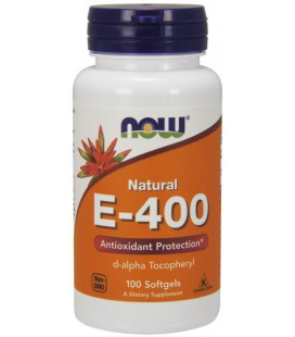 NOW FOODS E-400 D-Alpha Tocopheryl 100 SGELS