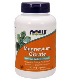 NOW FOODS MAGNESIUM CITRATE CAPS 120 VCAPS