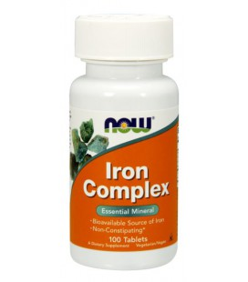NOW FOODS IRON COMPLEX 100 TABS