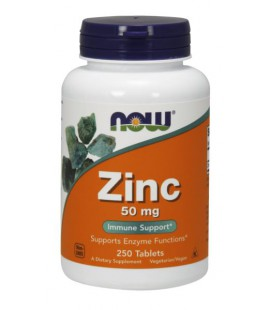 NOW FOODS ZINC GLUCONATE 50mg 250 TABS