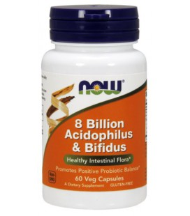 NOW FOODS 8 BILLION ACIDOPH/BIFIDUS 60 VCAPS
