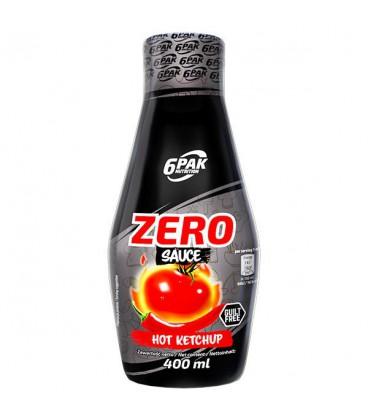 6PAK Nutrition Sauce ZERO HOT KETCHUP 400ml