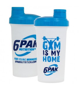 6PAK Shaker White Gym Is My Home 700ml