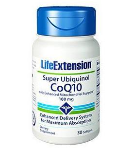 Life Extension Super Ubiquinol CoQ10 with Shilajit 100mg 60vcaps