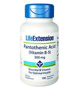 Life Extension Vitamin B5 500mg (Pantothenic Acid) 100vcaps