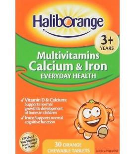 Haliborange Multivitamins, Calcium & Iron 30tabs