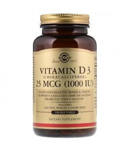 Solgar Vitamin D3 (Cholecalciferol) 1000 IU 250 softgels