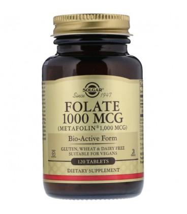 Solgar Folate 1000mcg (as metafolin) 120 tab