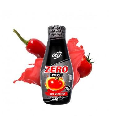 6PAK Sauce ZERO 400ml Hot Ketchup