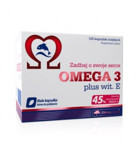 Olimp Omega 3 plus wit. E (45%) 500mg - 120kap