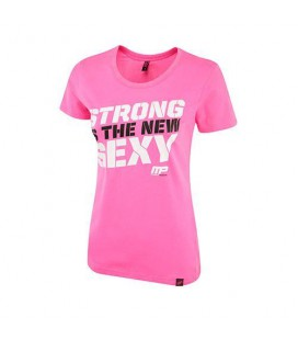 Musclepharm Ladies T-shirt Strong Sexy - Pink - M