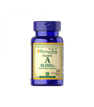 Puritans Vitamin A 10.000 IU - 100 softgels