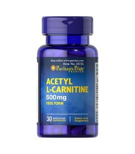 Puritans Pride Acetyl L-Carnitine 500mg - 30kapsułek