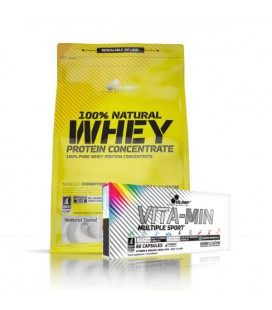 Olimp 100% Whey Protein Concentrate + Olimp Vita-Min Multiple Sport 60kap