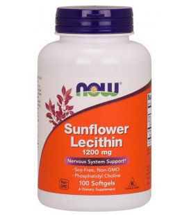 NOW FOODS SUNFL LECITHIN 1200mg 100 SGELS