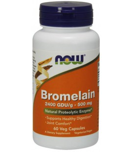 NOW FOODS BROMELAIN 500MG/2400GDU 60 VCAPS
