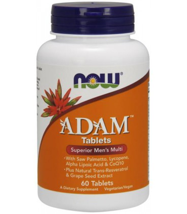 NOW FOODS ADAM MALE MULTI 60 TABS