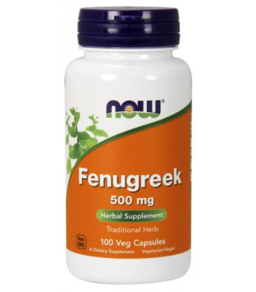 NOW FOODS FENUGREEK 500mg 100 VCAPS