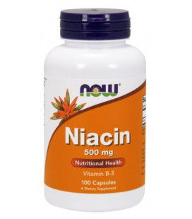 NOW FOODS NIACIN 500mg 100 CAPS