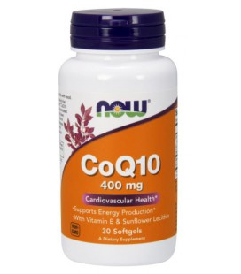 NOW FOODS CoQ10 400mg 30 SGELS