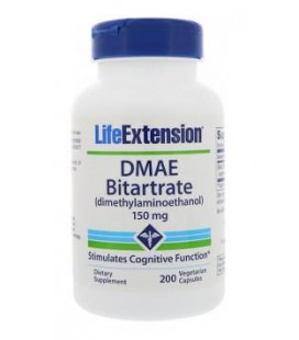 Life Extension DMAE Bitarate 150mg 200vcaps