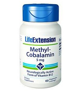 Life Extension Vitamin B12 Methylocobalamin 5mg 60 vegetarian lozenges