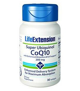 Life Extension Super Ubiquinol CoQ10 with Shilajit 200mg 30softgel