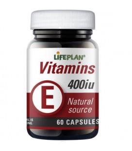 Lifeplan Vitamin E 400IU 60kaps