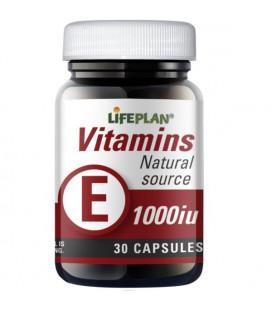 Lifeplan Vitamin E 1000IU 30kaps
