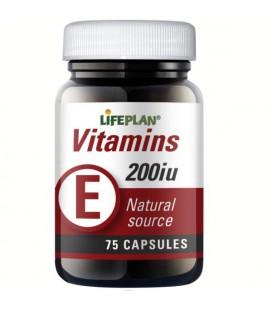 Lifeplan Vitamin E 200IU 75kaps