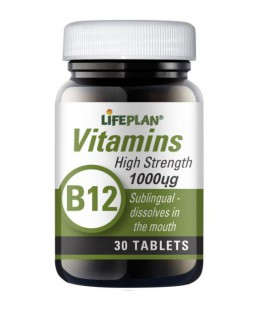 Lifeplan Vitamin B12 Sublingual 1000mcg 30tab