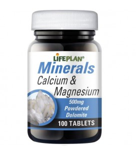 Lifeplan Calcium & Magnesium 500mg 100tab