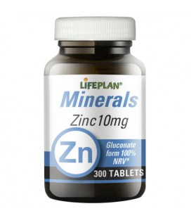 Lifeplan Zinc Gluconate 10mg 300tab