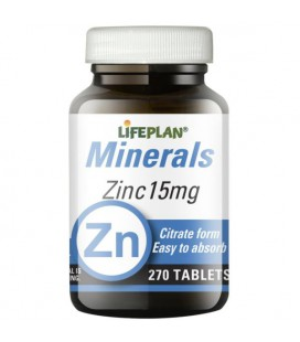 Lifeplan Zinc Citrate 15mg 270tab