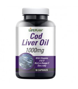 Lifeplan Cod Liver Oil 1000mg 90kaps