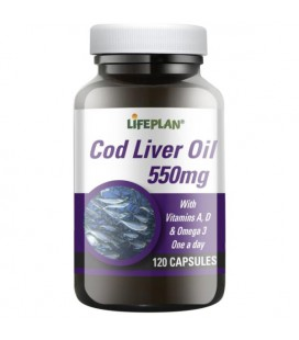 Lifeplan Cod Liver Oil 550mg 120kaps